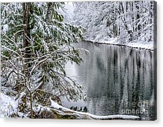 Acrylic Print featuring the photograph Winter Along Cranberry River by Thomas R Fletcher