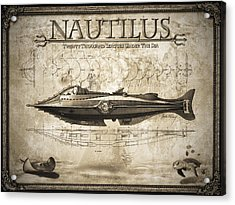 20,000 Leagues Under The Sea Acrylic Print