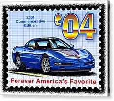 2004 Commemorative Edition Corvette Acrylic Print