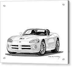 2005 Dodge Srt 10 Roadster Acrylic Print by Jack Pumphrey