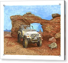 2005 Jeep Rubicon 4 Wheeler Acrylic Print by Jack Pumphrey