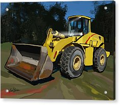2005 New Holland Lw230b Wheel Loader Acrylic Print