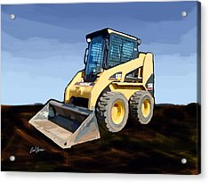 2007 Caterpillar 236b Skid-steer Loader Acrylic Print by Brad Burns