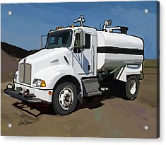 2007 Kenworth T300 Water Truck Acrylic Print by Brad Burns