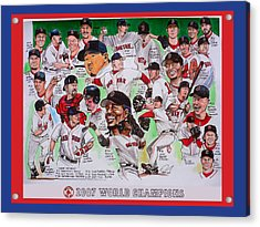 2007 World Series Champions Acrylic Print by Dave Olsen