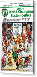 2008 Boston Celtics Team Poster Acrylic Print by Dave Olsen