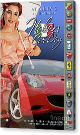 2009 Atlanta Italian Car Day Postcard Acrylic Print