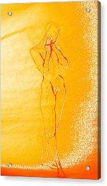 2009 Figure Study 6 Acrylic Print by Carol Rashawnna Williams