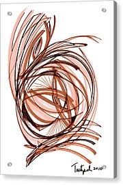 2010 Abstract Drawing Six Acrylic Print by Lynne Taetzsch