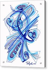 2010 Drawing Four Acrylic Print by Lynne Taetzsch