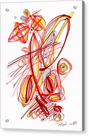2010 Drawing Two Acrylic Print by Lynne Taetzsch