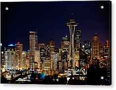 2010 Seattle Earth Hour A350 Acrylic Print by Yoshiki Nakamura