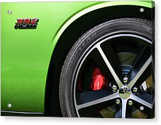 2011 Dodge Challenger Srt8 392 Hemi Green With Envy Acrylic Print by Gordon Dean II