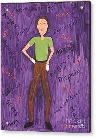 2011 Worried Man Acrylic Print by Gregory Davis