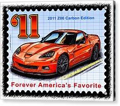 2011 Z06 Carbon Edition Corvette Acrylic Print