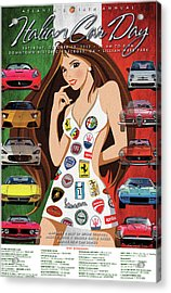 2012 Atlanta Italian Car Day Poster Acrylic Print