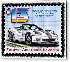 2013 60th Anniversary 427 Convertible Corvette Acrylic Print