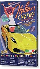 2013 Atlanta Italian Car Day Poster Acrylic Print