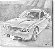 2013 dodge challenger srt8 classic car art print drawing by stephen rooks. Black Bedroom Furniture Sets. Home Design Ideas