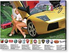 2014 Atlanta Italian Car Day Poster Acrylic Print
