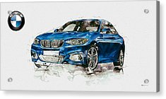 2014 B M W 2 Series Coupe With 3d Badge Acrylic Print by Serge Averbukh