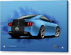 2014 Stang Rear Acrylic Print