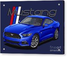2015 Blue Mustang Acrylic Print