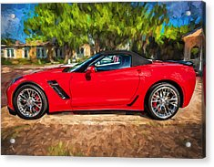 2015 Chevrolet Corvette Zo6 Painted  Acrylic Print by Rich Franco