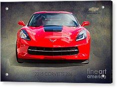 2015 Corvette Z06 By Darrell Hutto Acrylic Print