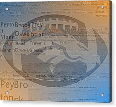 2015 Denver Broncos Players Acrylic Print by Dan Sproul