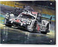 2015 Le Mans 24 Lmp1 Winner Porsche 919 Hybrid Bamber Tandy Hulkenberg Acrylic Print