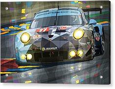2015 Le Mans Gte-am Porsche 911 Rsr Acrylic Print by Yuriy Shevchuk