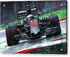 2015 Mclaren Honda F1 Austrian Gp Alonso  Acrylic Print
