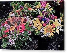 2015 Monona Farmers Market Flowers 1 Acrylic Print