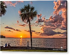 Sunset Over Lake Eustis Acrylic Print by Christopher Holmes
