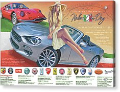 2016 Atlanta Italian Car Day Poster Acrylic Print