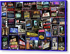 2016 Broadway Spring Collage Acrylic Print by Steven Spak