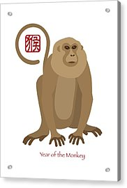 2016 Chinese New Year Of The Monkey Acrylic Print by Jit Lim