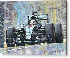 2016 Monaco Gp Mercedes Amg Petronas Hamilton  Acrylic Print
