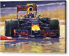2016 Spain Gp Max Verstappen Red Bull-renault Winner Acrylic Print