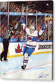 2016 Winter Classic Acrylic Print by Dave Olsen