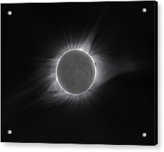 2017 Eclipse And Earthshine Acrylic Print