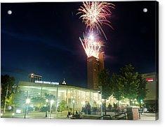 2017 Three Rivers Festival Aep Fireworks Acrylic Print