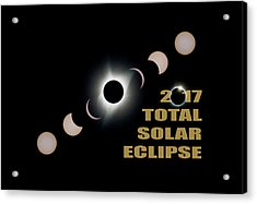 2017 Total Solar Eclipse Phases Acrylic Print