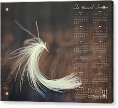 Acrylic Print featuring the photograph 2017 Wall Calendar Feather by Ivy Ho