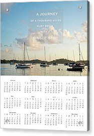 Acrylic Print featuring the photograph 2017 Wall Calendar Journey by Ivy Ho