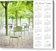 Acrylic Print featuring the photograph 2017 Wall Calendar Paris by Ivy Ho