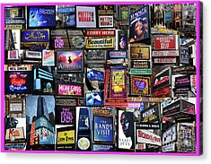 2018 Broadway Spring Collage Acrylic Print
