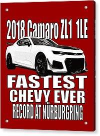 2018 Camaro Zl1 1le Acrylic Print