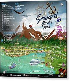 2018 Seward, Alaska Qr Code Directory Right Acrylic Print